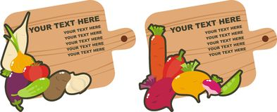 Vegetables. Banners with a variety of vegetables Stock Photography