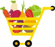 Vegetables. Basket with a variety of vegetables Royalty Free Stock Photography