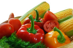 Vegetables. Fresh vegetables isolated on white Royalty Free Stock Photos
