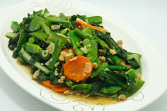 Vegetables. Asian Chinese Cooking Style Stir Fry Vegetable Dish on White Plate Stock Images