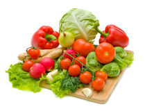 Vegetables. Fresh and ripe vegetables close-up Stock Images
