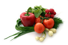 Vegetables. Fresh vegetables on white background Royalty Free Stock Photos