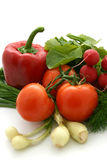 Vegetables. Fresh vegetables on white background Royalty Free Stock Photography