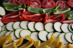 Vegetables. Ready for the oven Royalty Free Stock Image