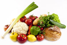Vegetables. Isolated on white. Food ingredients background Royalty Free Stock Photos