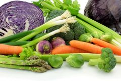 Vegetables. With close up image Stock Photos