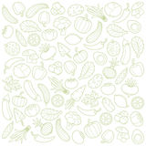 Vegetables. Set of vegetables on a white background Stock Photography