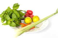 Vegetables. On plate picture Stock Images