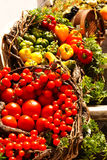Vegetables. Tomatos and pepers from Santorini island, Greece stock photo