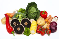 Vegetables. Assortment of Vegetables on a white background Stock Photography