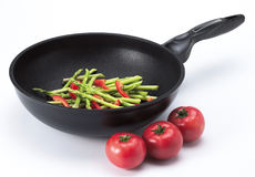 Vegetables. A mixture of asparagus, tomato and red capsicum Royalty Free Stock Images