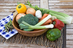 Vegetables. A still life featuring different vegetables arranged creatively Royalty Free Stock Photo
