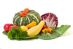 Vegetables. Miscellaneous vegetables isolated on white background royalty free stock image
