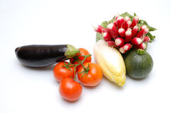 Vegetables. Some vegetables on the white background Royalty Free Stock Photos
