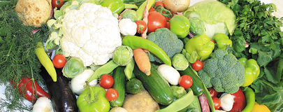 Vegetables. Array of vegetables; could be used as a background Stock Photography