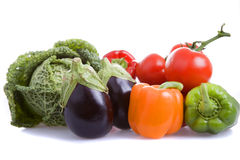 Vegetables. Some vegetables isolated on white background royalty free stock image
