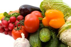 Vegetables. Close-up of fresh vegetables for backgrounds Royalty Free Stock Photography