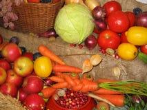 Vegetables. Fruit, vegetables, tomato, lemon, Carrots, apple stock images