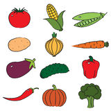 Vegetables. Clip-art on white background Royalty Free Stock Photo