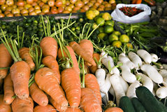 Vegetables. Newly harvested fresh fruits and vegetables from the farm Stock Images