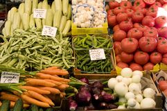 Vegetables. Fresh vegetables on a market Stock Images