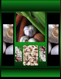 Vegetables. Including celery,onions,mushrooms,garlic beans and eggs Royalty Free Stock Photo