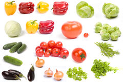 Vegetables. On a white background stock photos