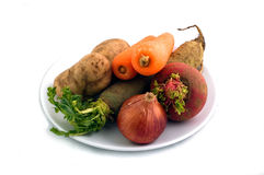 Vegetables. A plate of Vegetables Stock Photos