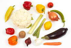 Vegetables. Colorful vegetables on white Royalty Free Stock Photography