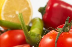 Vegetables. Focus on tomato, vegetables photo Royalty Free Stock Image