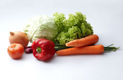 Vegetables. Fresh vegetables on a white background Stock Photography