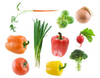 Vegetables. Large image of various vegetables isolated on white Royalty Free Stock Photo