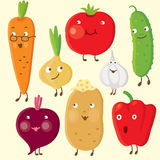 Vegetables. Set of  vector vivid vegetables Royalty Free Stock Image