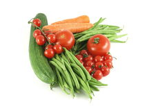 Vegetables. Assortment of organic vegetables, isolated royalty free stock images