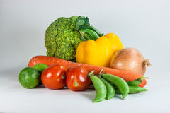 Vegetables. All vegatables in white background Stock Photography