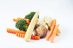 Vegetables. All of vegetable on the white background Stock Photos