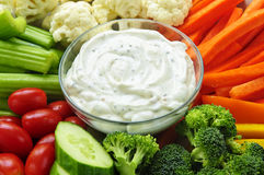 Vegetables And Dip Royalty Free Stock Photo