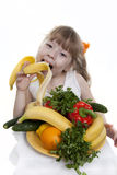 Vegetables And Fruit Of Children. Royalty Free Stock Photo