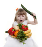 Vegetables And Fruit Of Children. Royalty Free Stock Photos
