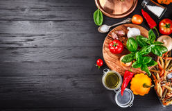 Free Vegetables And Spices Ingredient For Cooking Italian Food Royalty Free Stock Image - 76896726