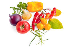 Vegetables with apples Royalty Free Stock Photos