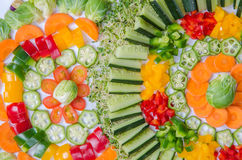 Vegetables Arrangement Stock Images