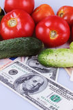 Vegetables as a symbol of healthy eating and good business Royalty Free Stock Photo