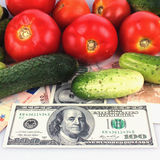 Vegetables as a symbol of healthy eating and good business. (details royalty free stock photo