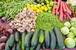 Vegetables in asia street market, India Stock Photos