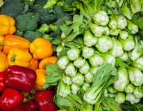 Vegetables in Asian market close up Royalty Free Stock Photography
