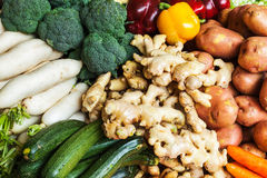 Vegetables in Asian market close up Royalty Free Stock Photos