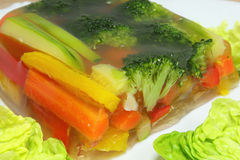 Vegetables in aspic Royalty Free Stock Images