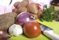 Vegetables Await Processing Royalty Free Stock Photography