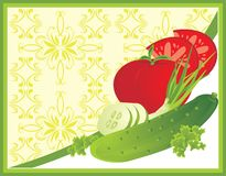 Vegetables. Background for card Royalty Free Stock Images